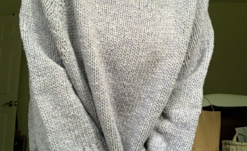 Turtle Dove hand-knit sweater in Quarry