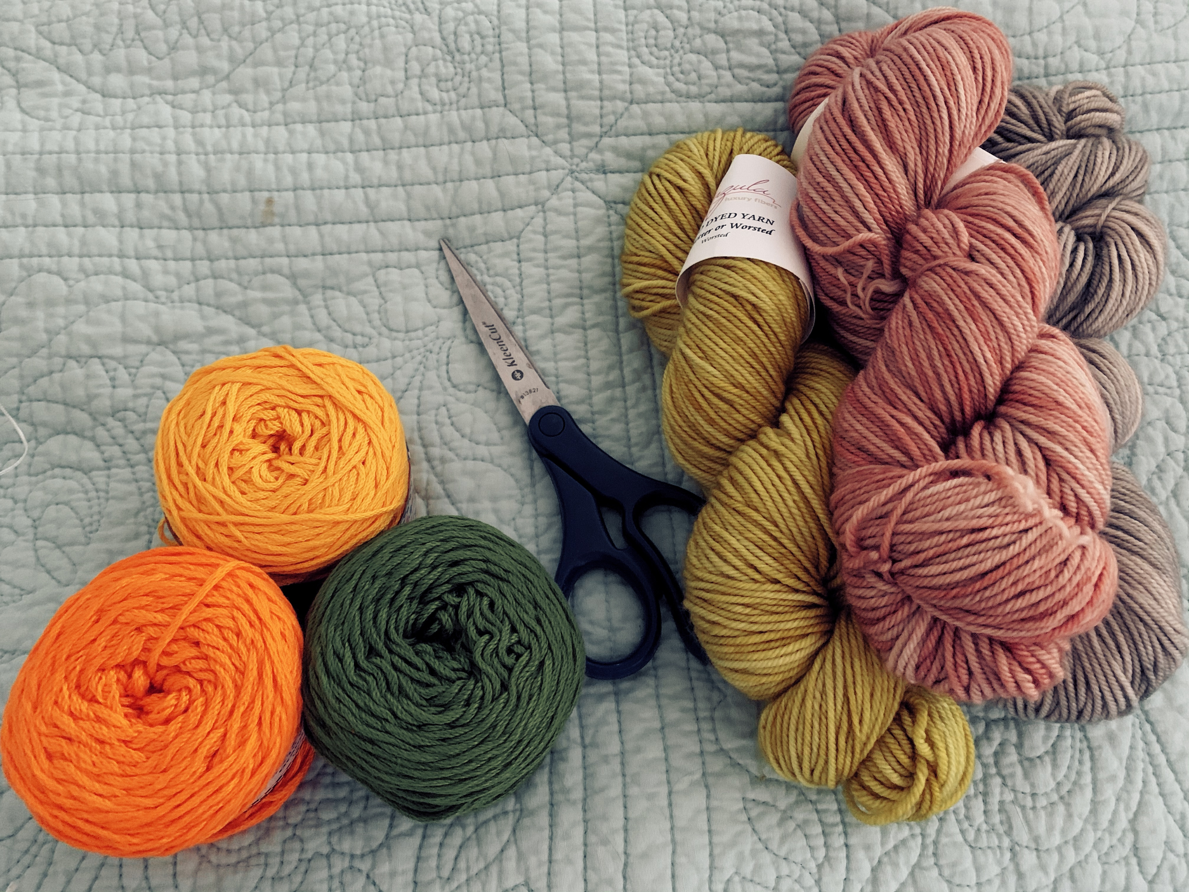 "Key West Kotton yarn and Anzula ""For Better or Worsted"""