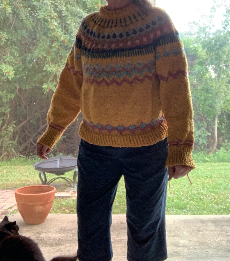 Marshland sweater in yellow Arranmore yarn