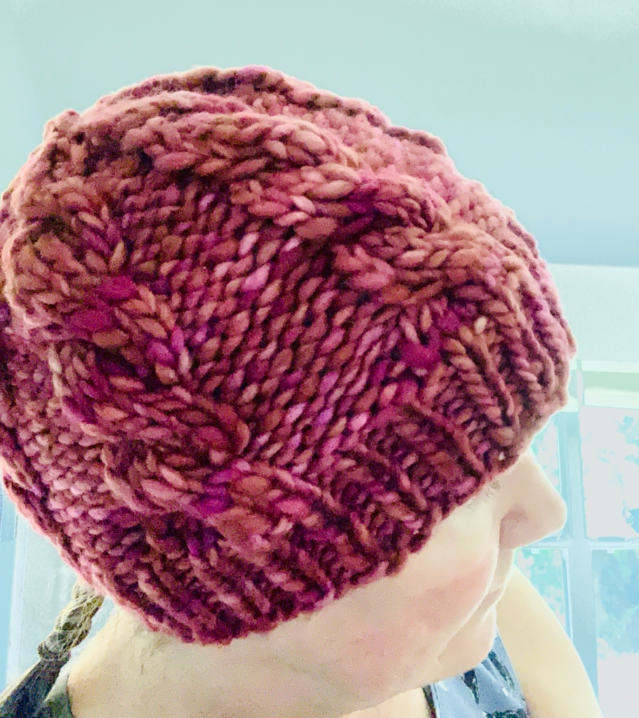 Northward cable hat hand-knit