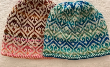 Turkish Patterned cap knit twice