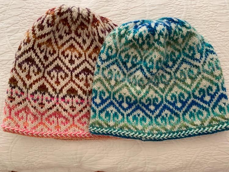 Turkish Patterned cap knit twice
