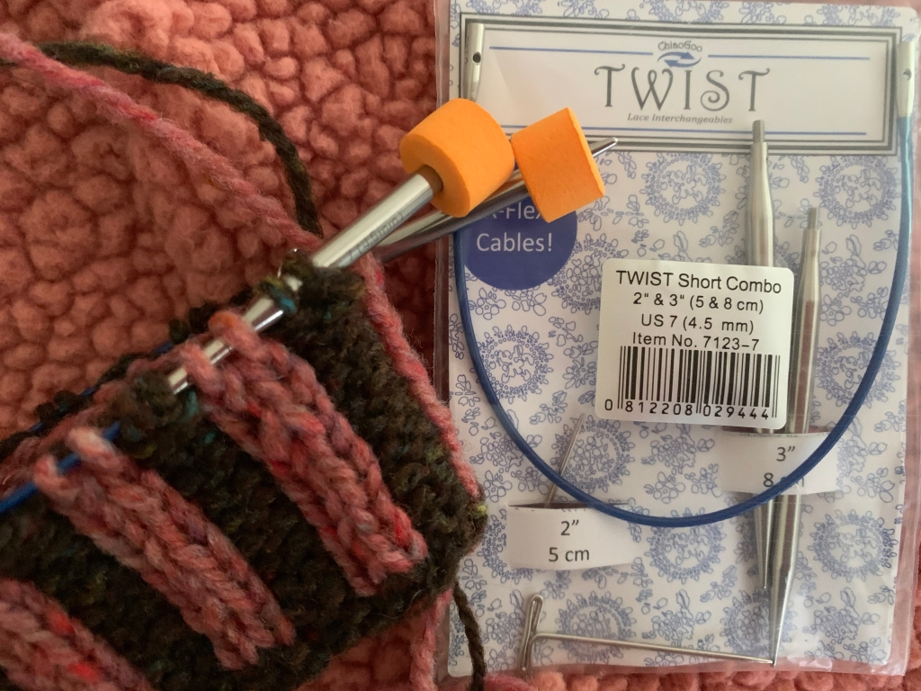 Twist short combo knitting needles