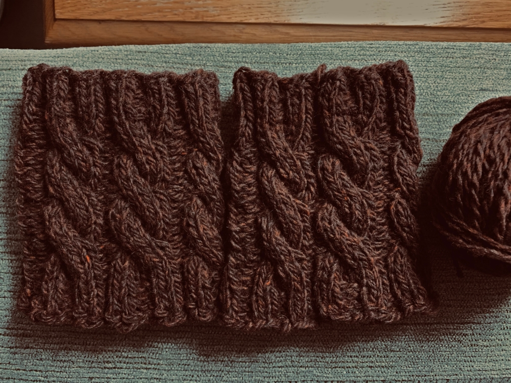 boot cuffs in Highland Teak