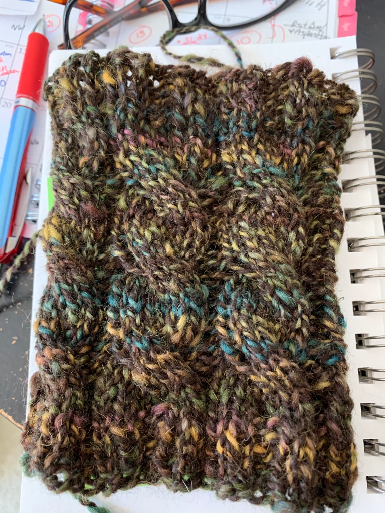 Boot cuff in handspun yarn