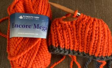 Encore Mega bulky orange yarn