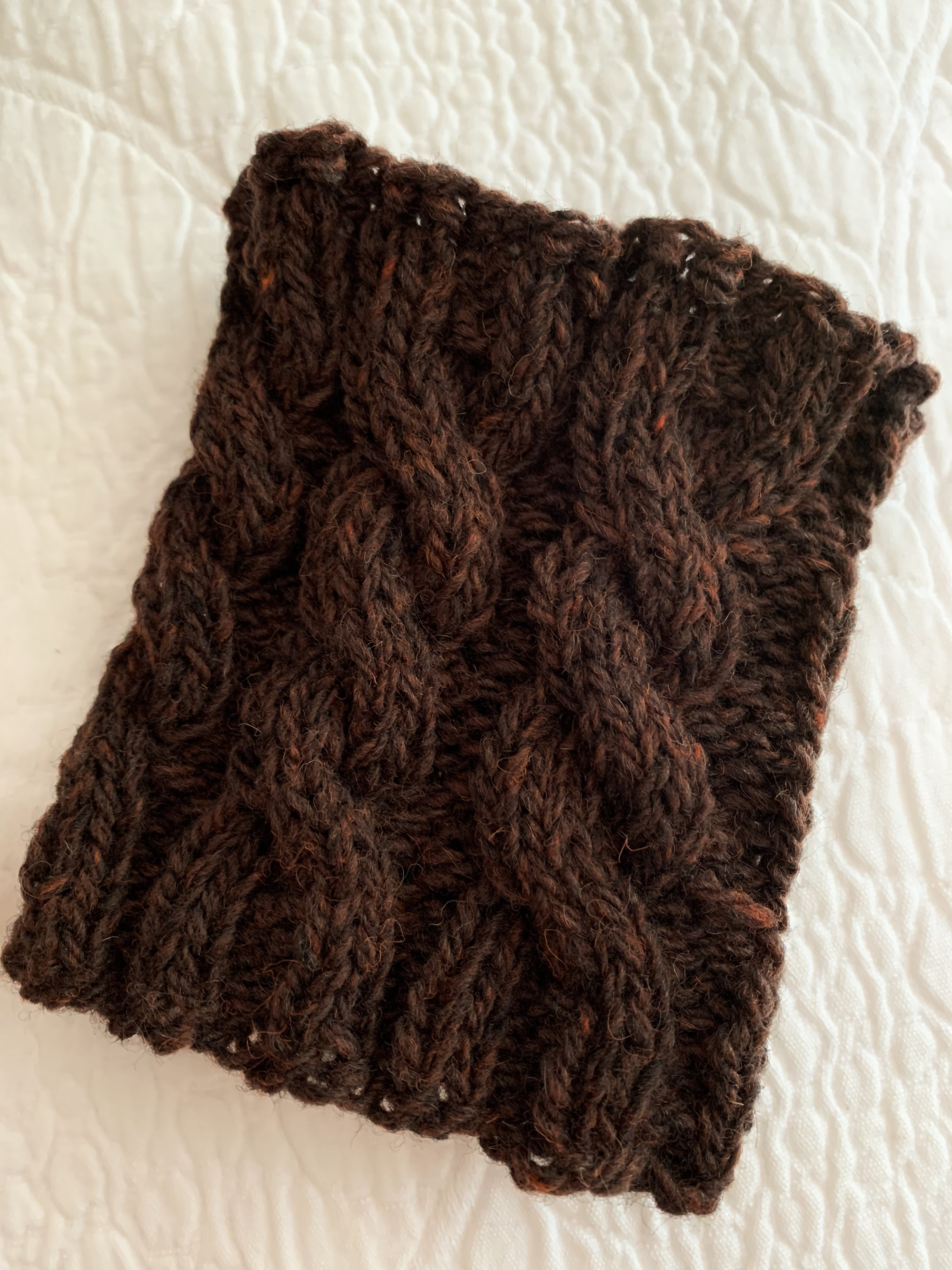 wool cable boot cuff