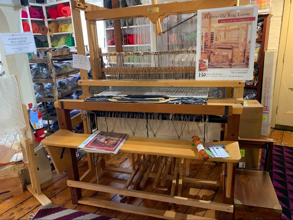 Weaving loom at Harrisville Designs