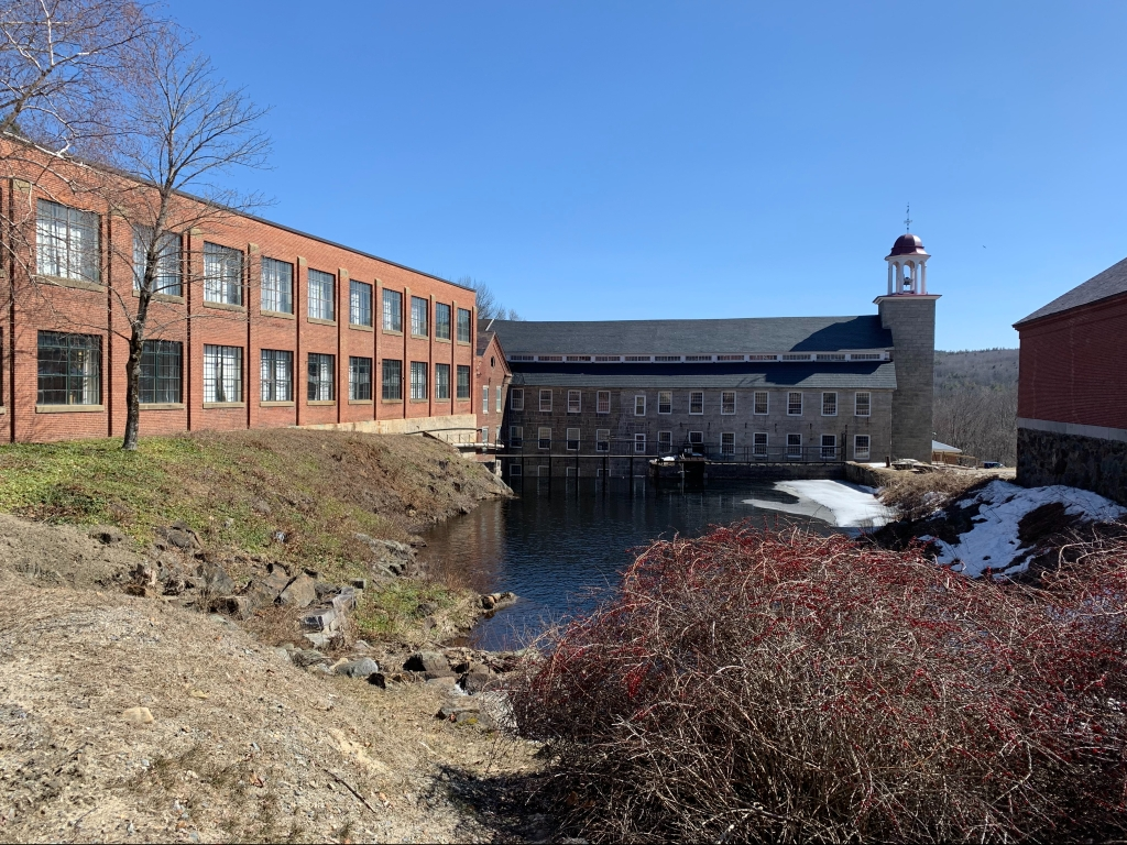 Mill area downstream in Harrisville center