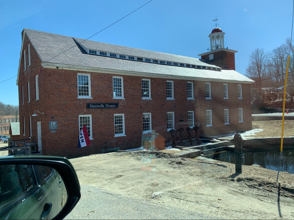 Building where Harrisville Designs is located