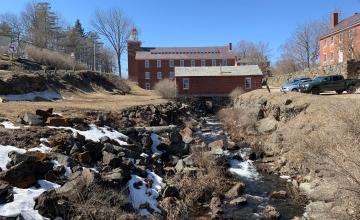 Historic Harrisville area with Harrisville Designs building