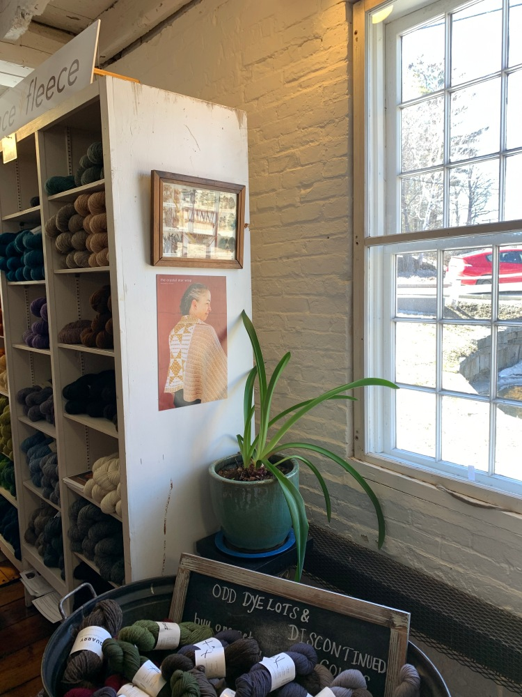 Cozy nook inside Harrisville Designs