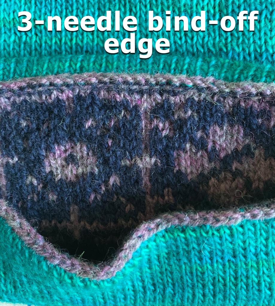 3-needle bind off on Keramos Cowl