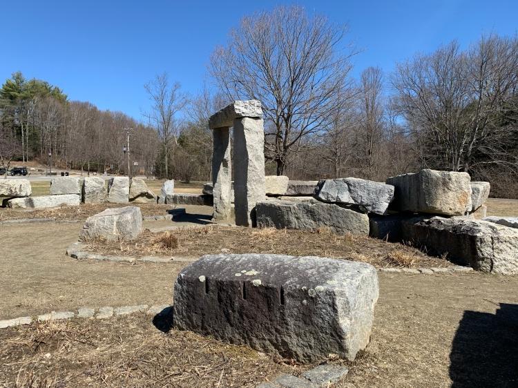 Stone park in Peterborough New Hampshire
