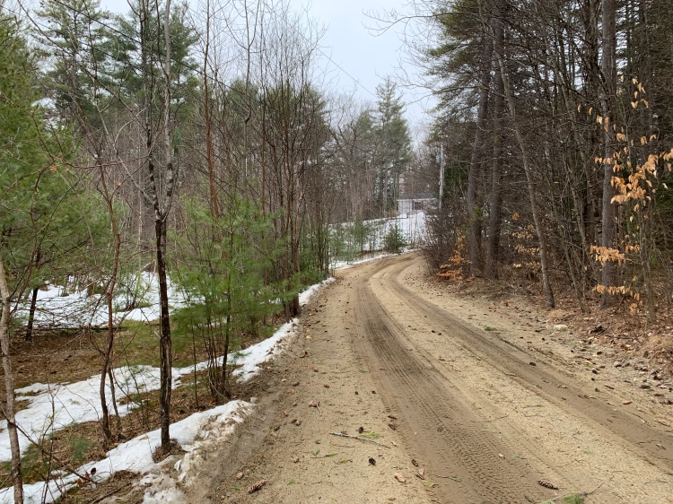 March New Hampshire with ground showing and some snow