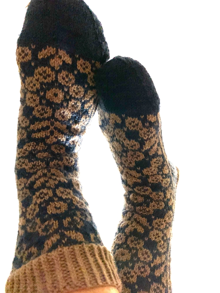 Wild Angelica socks colorwork stranded