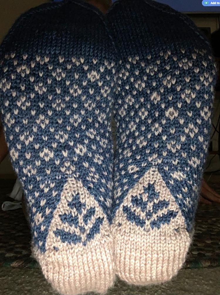 wild angelica socks pattern fair isle colorwork knitting