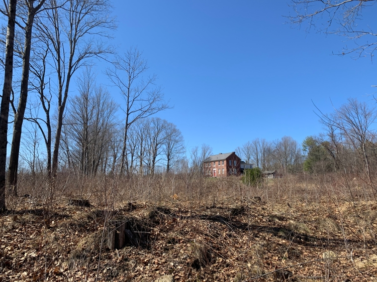 Old farmhouse in the New Hampshire woods
