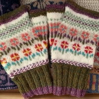 Creating My Own Mitts Fair Isle Pattern