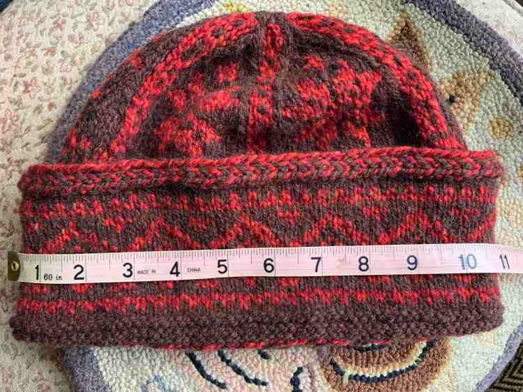 Extra large watchcap size Fair Isle hat