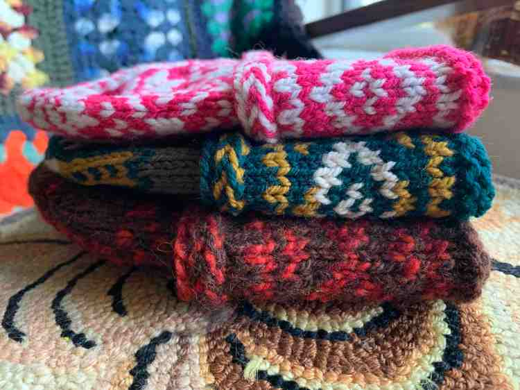 Triple Patterned Watchcap in three sizes and various colors