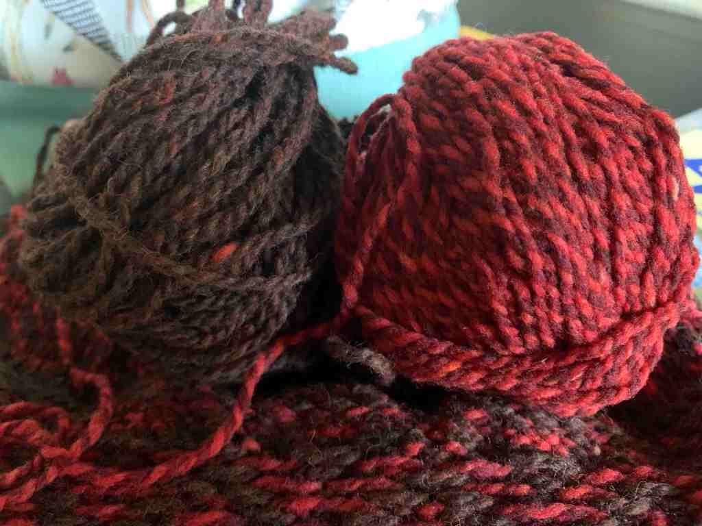 balls of wool yarn