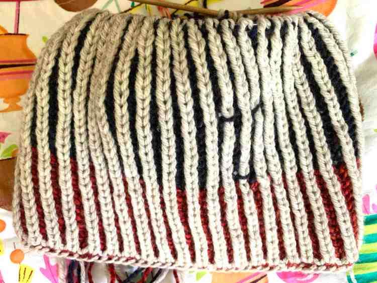 brioche knitting in the round