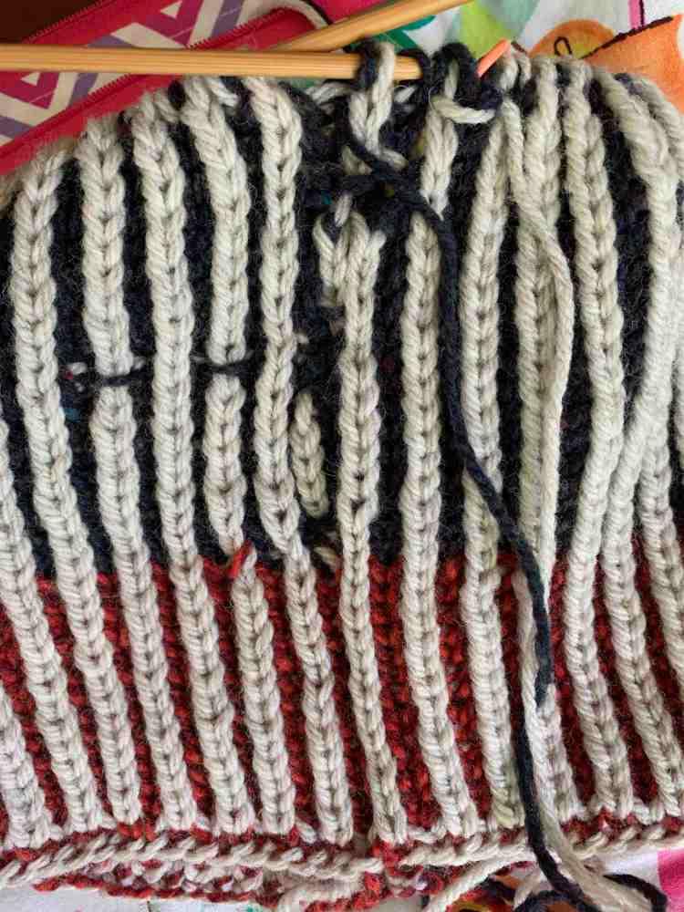 horrible brioche knitting