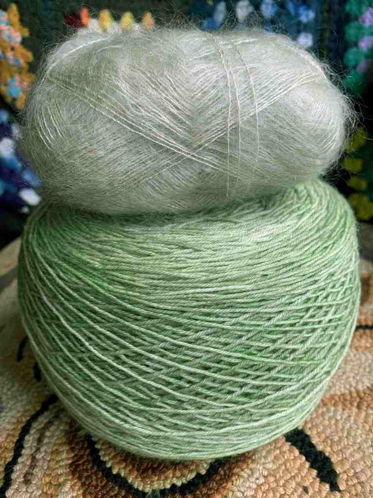 Miss Babs Katahdin yarn and Filcolana mohair