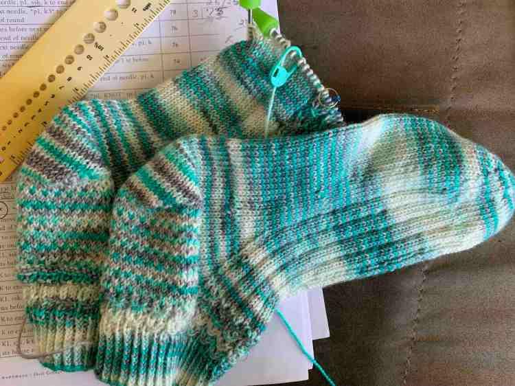knitting socks ankle version