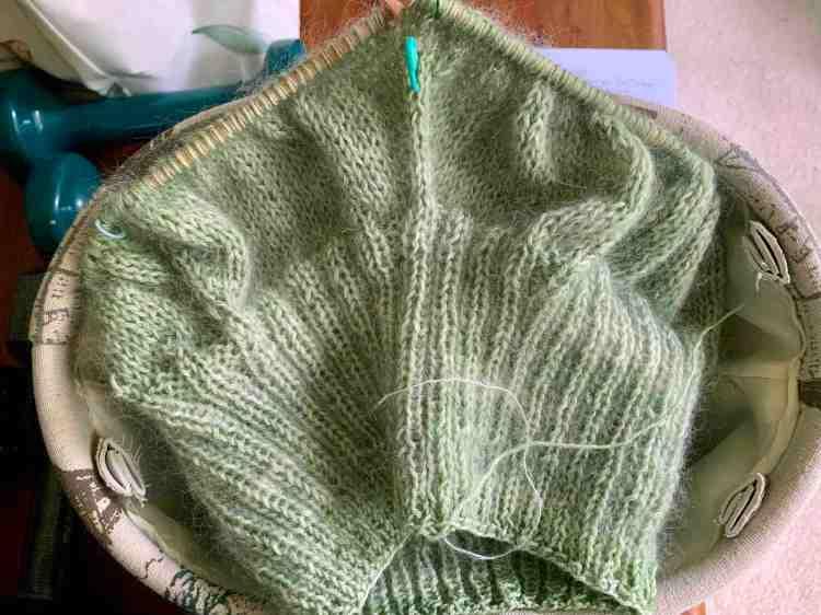 short row shaping on Calliope sweater