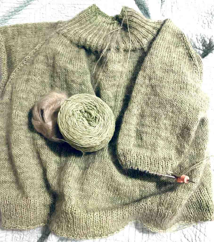 Calliope sleeve knitting