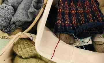 knitting three sweaters