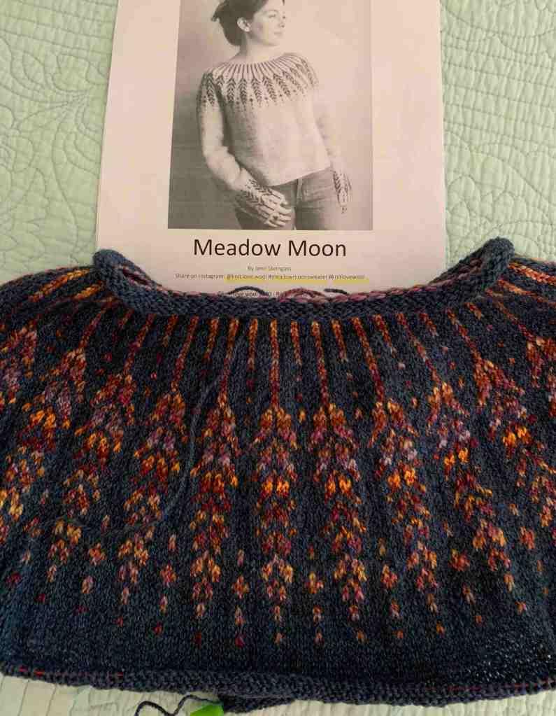 knitting Meadow moon fair isle sweater