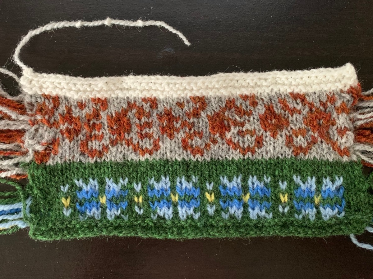 swatching in the round colorwork